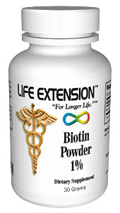 Life Extension Biotin  30 grams Powder