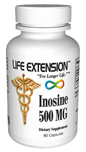 Life Extension Inosine 500 mgs 100 Capsules
