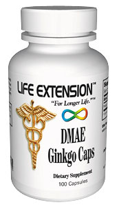 Life Extension Dmae Ginkgo 100 Capsules