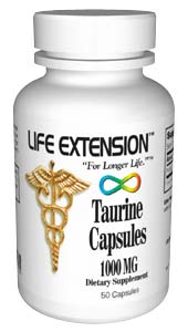 Life Extension Taurine 1000mg 50 Capsules