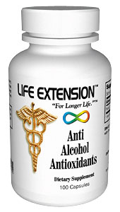 Life Extension Anti Alcohol Antioxidants W/ Patoprotection 100 Capsules