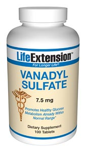 Life Extension Vanadyl Sulfate 7.5 mg 100 Tablets