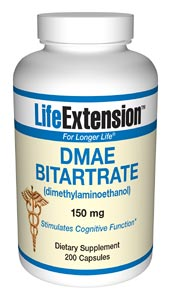 Life Extension Dmae 150 mg 200 Capsules