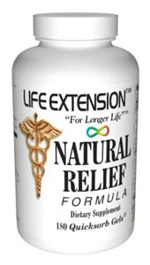 Life Extension Natural Pain Formula 180 Capsules