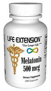 Life Extension Melatonin 500 Mcg 200 Capsules