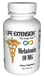 Life Extension Melatonin 10 mg 60 Capsules