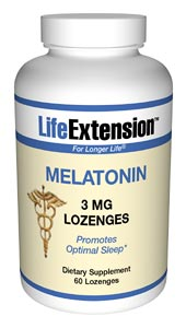 Life Extension Melatonin 3 mg 60 Dissolving Lozenges