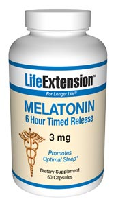 Life Extension Melatonin Timed Released 3 mg  60 Capsules