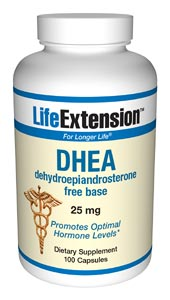 Life Extension Dhea 25 mg 100 Capsules
