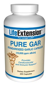 Life Extension Pure Gar 900 mg 200 Capsules
