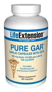 Life Extension Pure Gar W/Edta  900 mg 200 Capsules