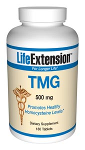 Life Extension Tmg 500 mg 180 Tablets
