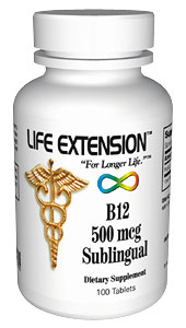 Life Extension B12 Dissolving 500 Mcg 100 Tablets