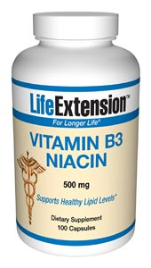 Life Extension B3 500 mg 100 Capsules