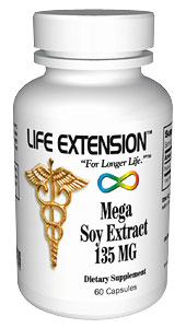 Life Extension Mega Soy 135 mg 60 Capsules