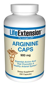 Life Extension Arginine 900 mg 200 Capsules