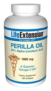 Life Extension Perilla Oil 1000 mg 180 Softgels