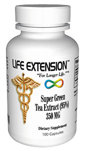 Life Extension Mega Green Tea Lightly Caffeinated 350mg  100 Capsules
