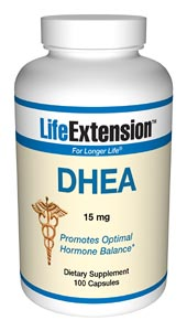 Life Extension Dhea 15 mg 100 Capsules