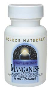 Life Extension Manganese 15 mg 100 Tablets