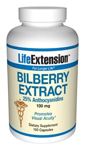 Life Extension Bilberry 100 100 mg Capsules