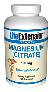 Life Extension Magnesium Citrate 100 160 mg Capsules