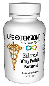 Enhanced Life Extension Whey Protein Natural 1 Kilo Natural