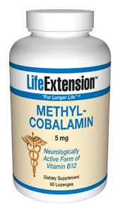 Life Extension Methylcobalamin 60 5 mg Dissolving Caps Strawberry