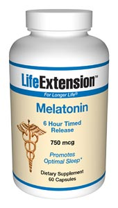 Life Extension Melatonin Time Release 750 Mcg 60 Capsules