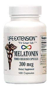 Life Extension Melatonin Time Release 300 Mcgs 100 Capsules