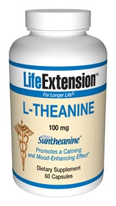 Life Extension L Theanine 60 100 mg Capsules