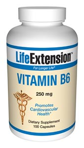 Life Extension B6 100 250 mg Capsules