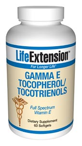 Life Extension Gamma E 340 mg 60 Softgels