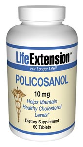 Life Extension Policosanol 10 mg 60 Tablets