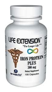 Life Extension Iron Protein Plus 100 15 mg Capsules