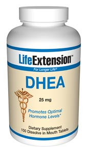 Life Extension Dhea 25 mg Dissolving 100 Tablets