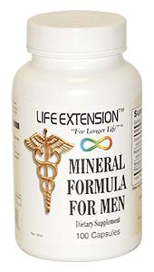 Life Extension Mineral Formula For Men 100 Tablets