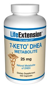 Life Extension 7-Keto Dhea 25 mg 100 Capsules