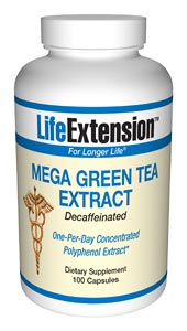 Life Extension Mega Green Tea Extract Decaffienated 100 Caps