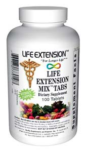 Life Extension Mix 100 Tablets W/O Copper