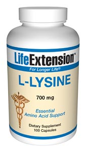 Life Extension L-Lysine 700 mg 100 Capsules
