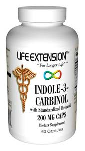 Life Extension Indole-3-Carbinol With Standardized Broccoli 60 200 mg Capsules