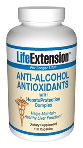 Life Extension Anti Alcohol Antioxidants W/ Hepaprotection Complex 100 Cap