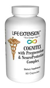 Life Extension Cognitex W/ Preg & Neuroprotection Complex 90 Caps