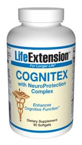 Life Extension Cognitex W/O Preg & Neuroprotection Complex 90 Softgels