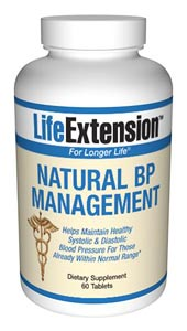 Life Extension Natural Bp Management 60 Tablets