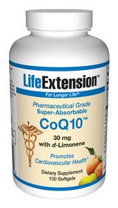 Life Extension Enhanced Super Absorbable Coq10 30mg 100 Softgels