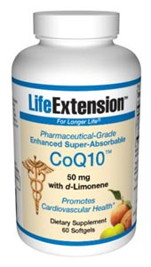 Life Extension Enhanced Super Absorbable Coq10 50mg 60 Softgels