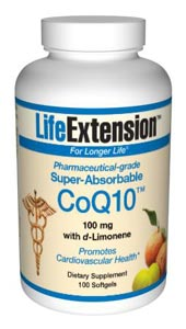Life Extension Enhanced Super Absorbable Coq10 100mg 100 Softgels