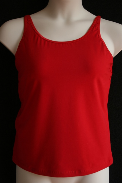 Luisa Post-Mastectomy/Breast Surgery Camisole Tank Top W/ Spaghetti Straps & Built-in Pocketed Bra